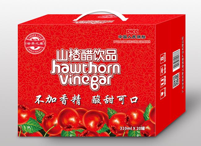 江苏山楂醋饮品310mlx20瓶/箱